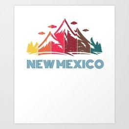 Retro New Mexico Design for Men Women and Kids Art Print