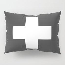 Swiss Cross Charcoal Pillow Sham