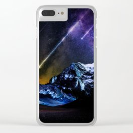 Night Fire Clear iPhone Case