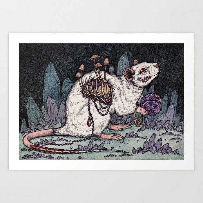 Sorcerer's Familiar Art Print
