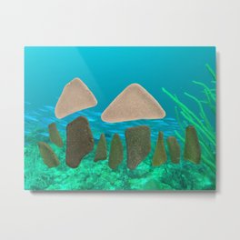 Sea Glass Mushrooms Metal Print