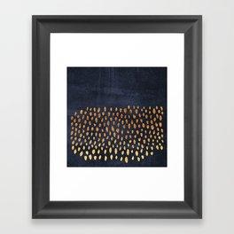 Pattern Play / Navy & Gold Framed Art Print