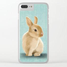 Portrait of a little bunny Clear iPhone Case