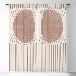 Abstract Modern Poster Arch  Blackout Curtain