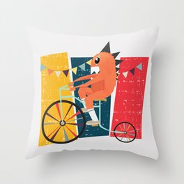 Vintage Circus Throw Pillow
