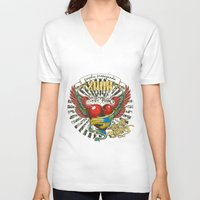 propaganda V-neck T-shirts featuring Graphic propaganda by Tshirt-Factory