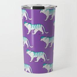 Teal Tiger Travel Mug