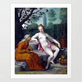 Abraham Bloemaert Vertumnus and Pomona Art Print
