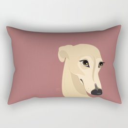 Shy greyhound Rectangular Pillow