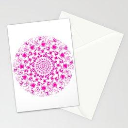 Pink coffee mandala Stationery Cards