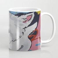 westie Mugs featuring Pop Art Westie Named Poppy by Karren Garces Pet Art