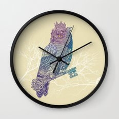 Owl King Color Wall Clock