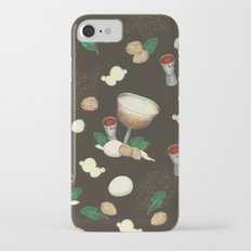 cocktail recipe pattern _ brandy flip Slim Case iPhone 8