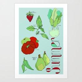 Fresh from the Farmers Market: Summer Art Print