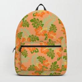 Hawaiian Pattern - Orange Backpack