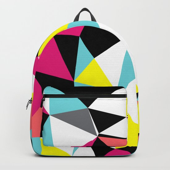 Colorful bright geometrical triangles print Backpack