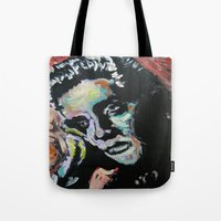 elvis Tote Bags featuring Elvis by Matt Pecson