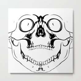 screaming skull Metal Print