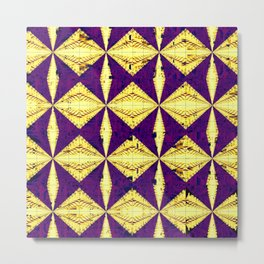 Diamondback Purple/ Yellow Metal Print