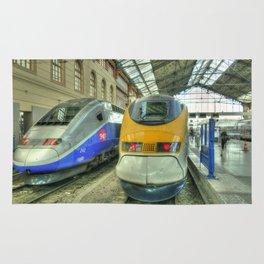 Marseille Trains of Grande Vitesse Rug