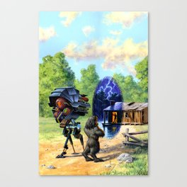 Time Window Canvas Print