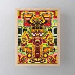 Fire Dragon Framed Mini Art Print