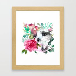 anemone and rose Framed Art Print