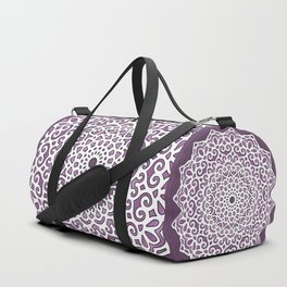 16 Fold Mandala in Purple Duffle Bag