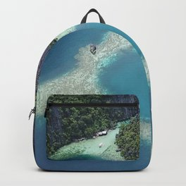 the blue hole in coron Philippines Backpack