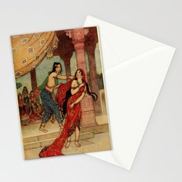 The ordeal of Queen Draupadi Stationery Cards
