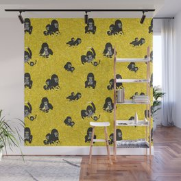 Gorillas and bananas by unPATO Wall Mural