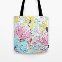 once upon a  time Tote Bags featuring Once Upon a Time by Ann Marie Coolick