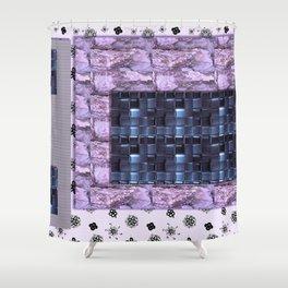 Texture for Interior Decoration Purple . Artwork Shower Curtain