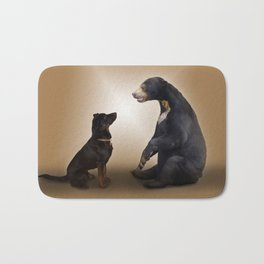 Dog And Bear Bath Mat