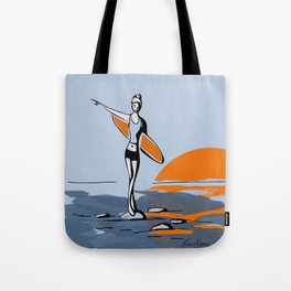 Rock and Stroll- Surfer Girl Tote Bag
