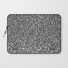 Black and White Organic MAZE Pattern Laptop Sleeve