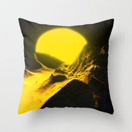 Walking to the sun. Throw Pillow