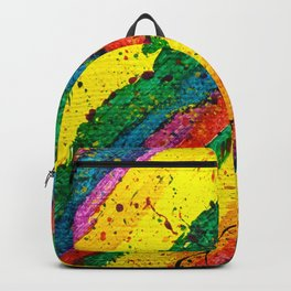 Rainbow Abstract #11 Backpack