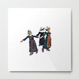 Rain, Three Girls - Paul Gauguin Metal Print