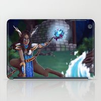 arya iPad Cases featuring Guardian of The Forest by Sara Poveda