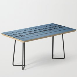 birds on a wire feeling blue Coffee Table