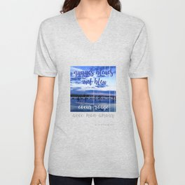 Clouds, sky and heart Unisex V-Neck