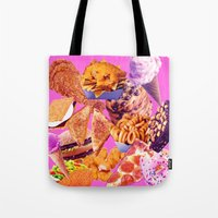 junk food Tote Bags featuring Junk  by ♡♡Transparent Mess♡♡