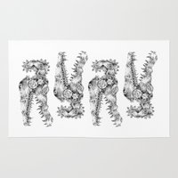 clockwork Area & Throw Rugs featuring clockwork crocodile by vasodelirium