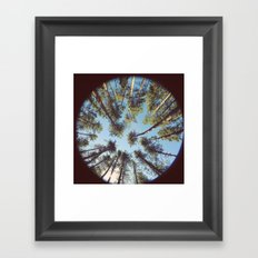look up & GET LOST Framed Art Print