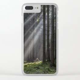 Light Beams Clear iPhone Case