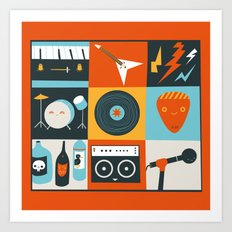 Be in a Band Art Print