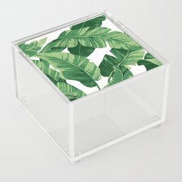 Tropical banana leaves IV Acrylic Box