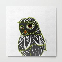 Kaleidoscope Owl Metal Print