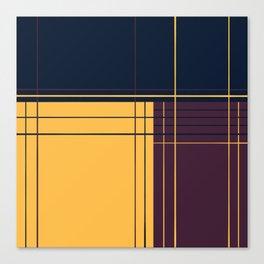 Abstract graphic I Dark blue Purple Yellow Canvas Print
